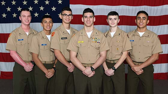 cadets at military school recognized for their achievement